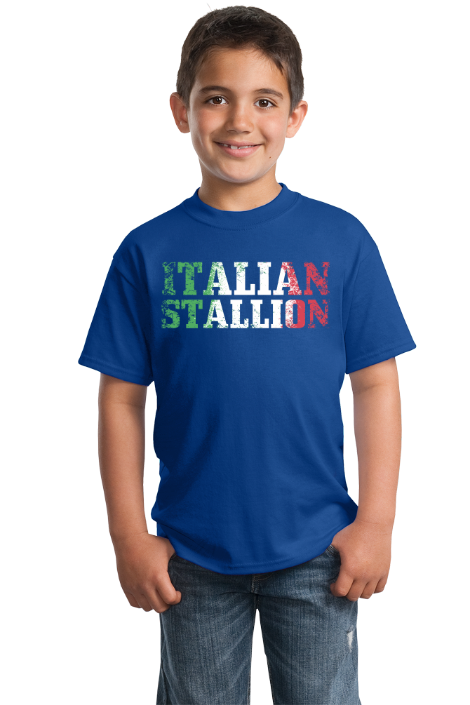 Youth Royal Italian Stallion - Italy Pride Guido Paisano Gift Heritage T-shirt