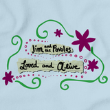 "Jim and the Povolos ""Loved and Alive"" T-shirt Light blue art preview"