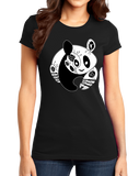 Girly Black Panda Bear Logo T Shirt T-shirt