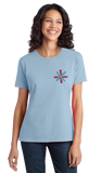 Ladies Light Blue Know Your Glow Crew Neck  T-shirt