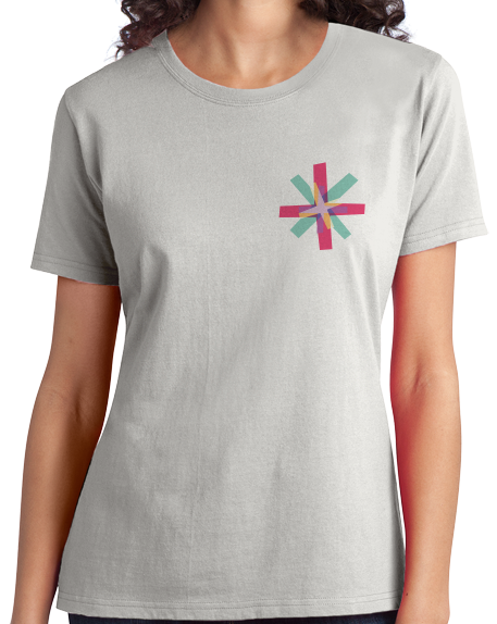 Ladies Light Grey Know Your Glow Crew Neck  T-shirt