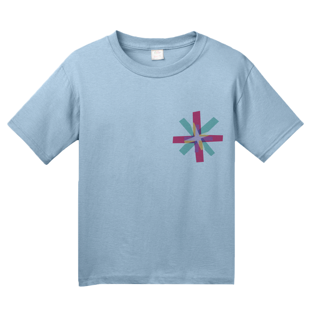 Youth Light Blue Know Your Glow Crew Neck  T-shirt