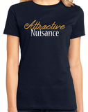 Ladies Navy Attractive Nuisance - Lawyer Humor Law School Funny Legal Joke T-shirt