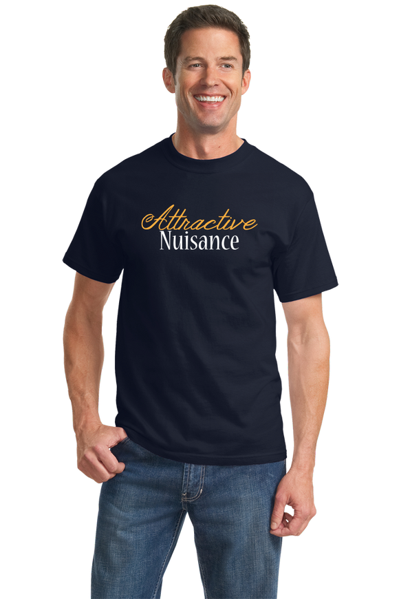Standard Navy Attractive Nuisance - Lawyer Humor Law School Funny Legal Joke T-shirt