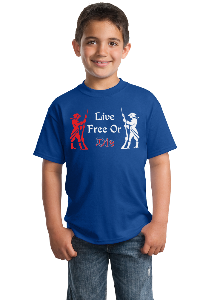 Youth Royal Live Free or Die - Patriotic New Hampshire Revolutionary War
