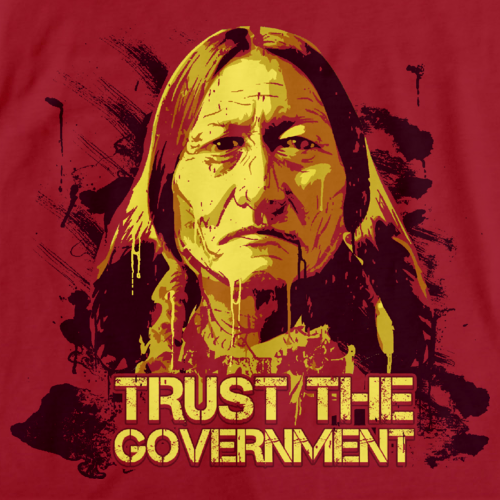 TRUST THE GOVERNMENT Red art preview