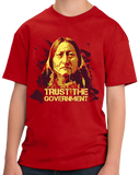 Youth Red Trust The Government - Sarcastic Libertarian Dark Humor Ron Paul T-shirt