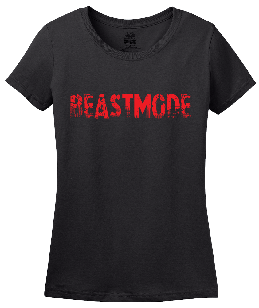 Ladies Black Beastmode - Body Building Strength Training Beast Gym Funny