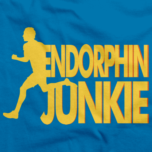 Endorphin Junky | Extreme Sports Workout, Crossfit Aqua Blue art preview