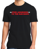 Standard Black Free Admission To The Gun Show - Gym Rat Bodybuilder Fitness T-shirt