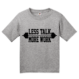 Youth Grey Less Talk More Work - Fitness Bodybuilding Joke Fitness Gym Rat