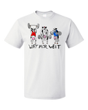 Unisex White Lift Mor Weit - Fitness Weight Lifting Bodybuilding Humor