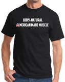 Unisex Black Natural American Muscle - Bodybuilding Weight Lifiting Pride Fan