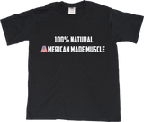 Youth Black Natural American Muscle - Bodybuilding Weight Lifiting Pride Fan