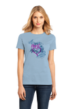 Ladies Light Blue I Left my Heart in Ashley, MI | Michigan Pride Ladies  T-shirt
