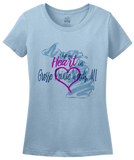 Ladies Light Blue I Left my Heart in Grosse Pointe Woods, MI | Michigan Pride Ladies  T-shirt