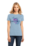 Ladies Light Blue I Left my Heart in Lakes Of The North, MI | Michigan Pride Ladies  T-shirt