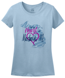 Ladies Light Blue I Left my Heart in Macbain, MI | Michigan Pride Ladies  T-shirt