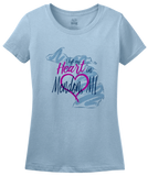 Ladies Light Blue I Left my Heart in Mendon, MI | Michigan Pride Ladies  T-shirt