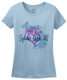 Ladies Light Blue I Left my Heart in Sylvan Lake, MI | Michigan Pride Ladies  T-shirt