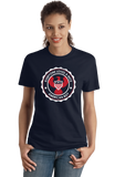 Ladies Navy Everyone Loves A Nice American Boy - American Pride 4th of July T-shirt