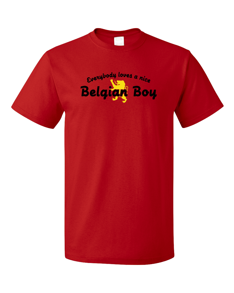 Standard Red Everybody Loves A Nice Belgian Boy - Belgian Pride Belgium Love T-shirt