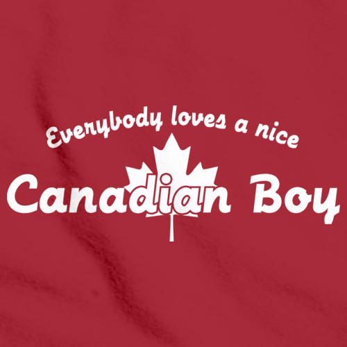 EVERYBODY LOVES A NICE CANADIAN BOY Red art preview