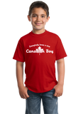 Youth Red Everybody Loves A Nice Canadian Boy - Canada Pride Love Canuck T-shirt
