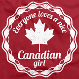 Everyone Loves a Nice Canadian Girl | Canada Red art preview