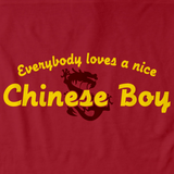EVERYBODY LOVES A NICE CHINESE BOY Red art preview