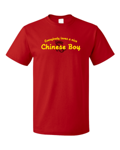 Standard Red Everybody Loves A Nice Chinese Boy - China Chinese Heritage Gift T-shirt