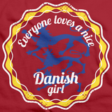 Everyone Loves a Nice Danish Girl | Denmark Red art preview
