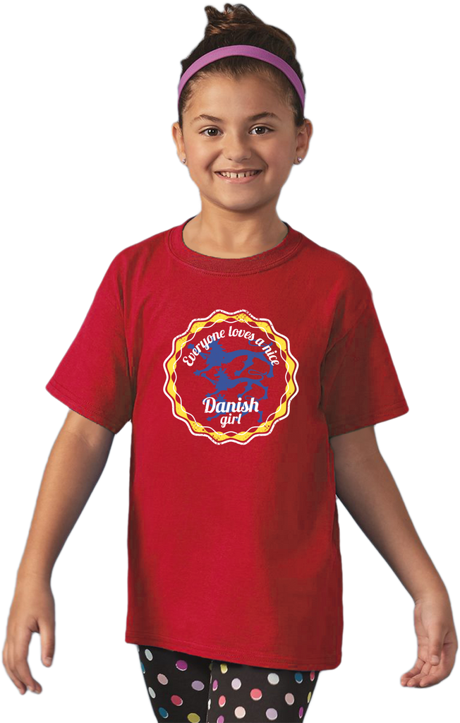 Youth Red Everyone Loves A Nice Danish Girl - Denmark Love Heritage Gift T-shirt