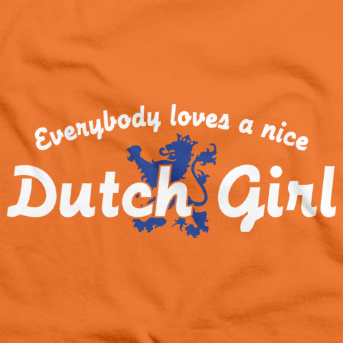 EVERYBODY LOVES A NICE DUTCH GIRL Orange art preview
