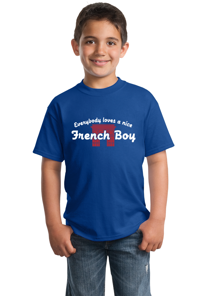Youth Royal Everybody Loves A Nice French Boy - France Heritage Love Pride T-shirt