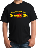 Youth Black Everybody Loves A Nice German Girl - Germany Deustchland Pride T-shirt