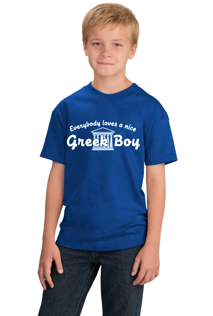 Youth Royal Everyone Loves A Nice Greek Boy - Greece Pride Ancestry Gift T-shirt