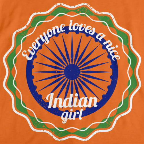 Everyone Loves a Nice Indian Girl | India Orange art preview