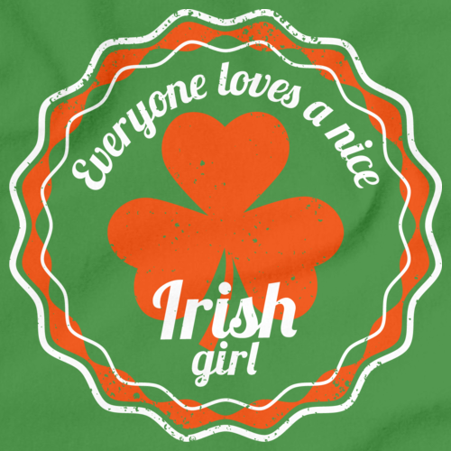 Everyone Loves a Nice Irish Girl | Ireland Green art preview