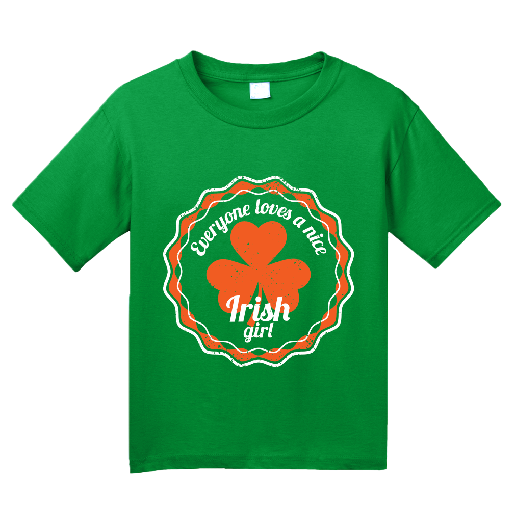 Youth Green Everyone Loves A Nice Irish Girl - Ireland Eire Pride Love Gift T-shirt