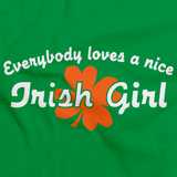 EVERYBODY LOVES A NICE IRISH GIRL Green art preview
