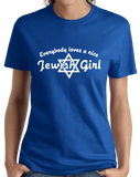 Ladies Royal Everybody Loves A Nice Jewish Girl - Israeli Jewish Bat Mitzvah T-shirt