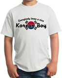 Youth White Everyone Loves A Nice Korean Boy - Korea Pride Ancestry Gift Fun T-shirt