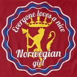 Everyone Loves a Nice Norwegian Girl | Norway Red art preview