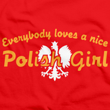 EVERYBODY LOVES A NICE POLISH GIRL Red art preview