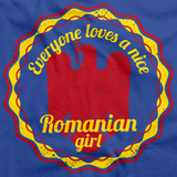 Everyone Loves a Nice Romanian Girl | Romania Royal Blue art preview