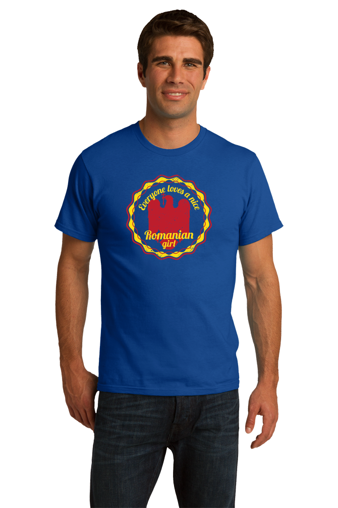 Standard Royal Everyone Loves A Nice Romanian Girl - Romania România Heritage T-shirt