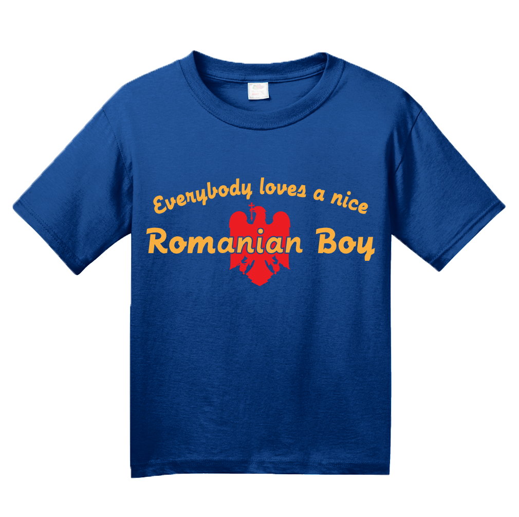 Youth Royal Everybody Loves A Nice Romanian Boy - Romania România Heritage T-shirt