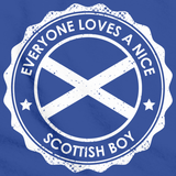 Everyone Loves a Nice Scottish Boy | Scotland Royal Blue art preview