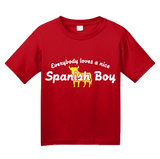 Youth Red Everyone Loves A Nice Spanish Boy - Spain España Heritage Pride T-shirt